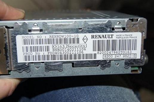 Renault-Radio-Code